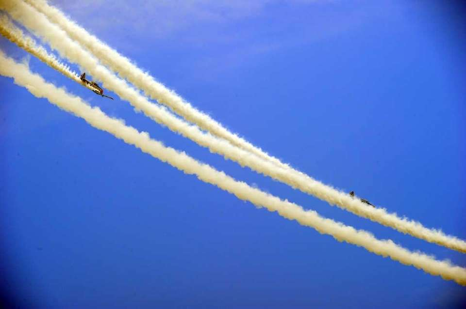 The GEICO Skytypers perform in the Bethpage Air