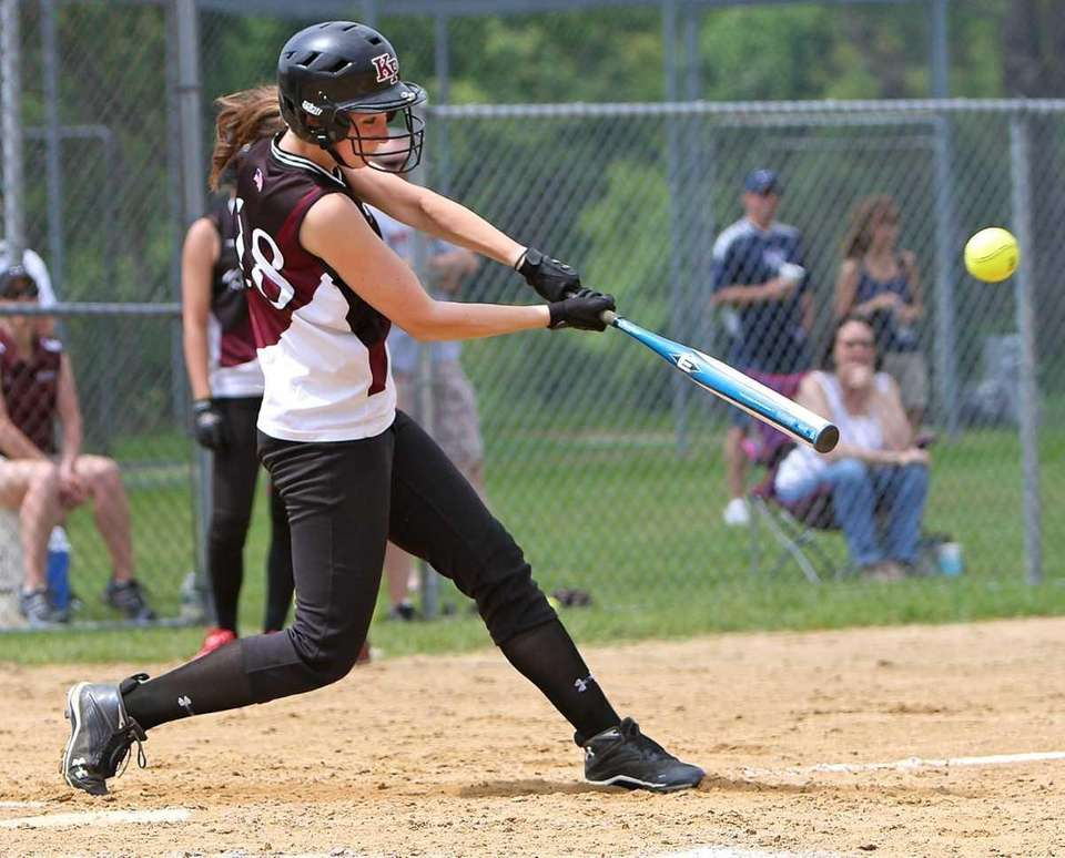 Reina Torlincasi #18 connects for a hit