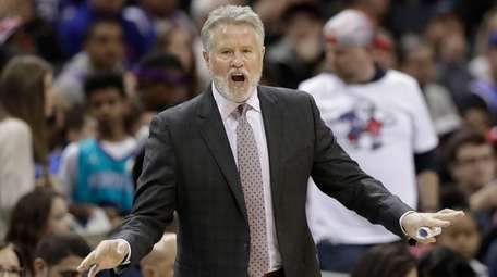 76ers coach Brett Brown said a potential playoff