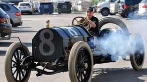 Howard Kroplick takes spin in his 1909 Alco