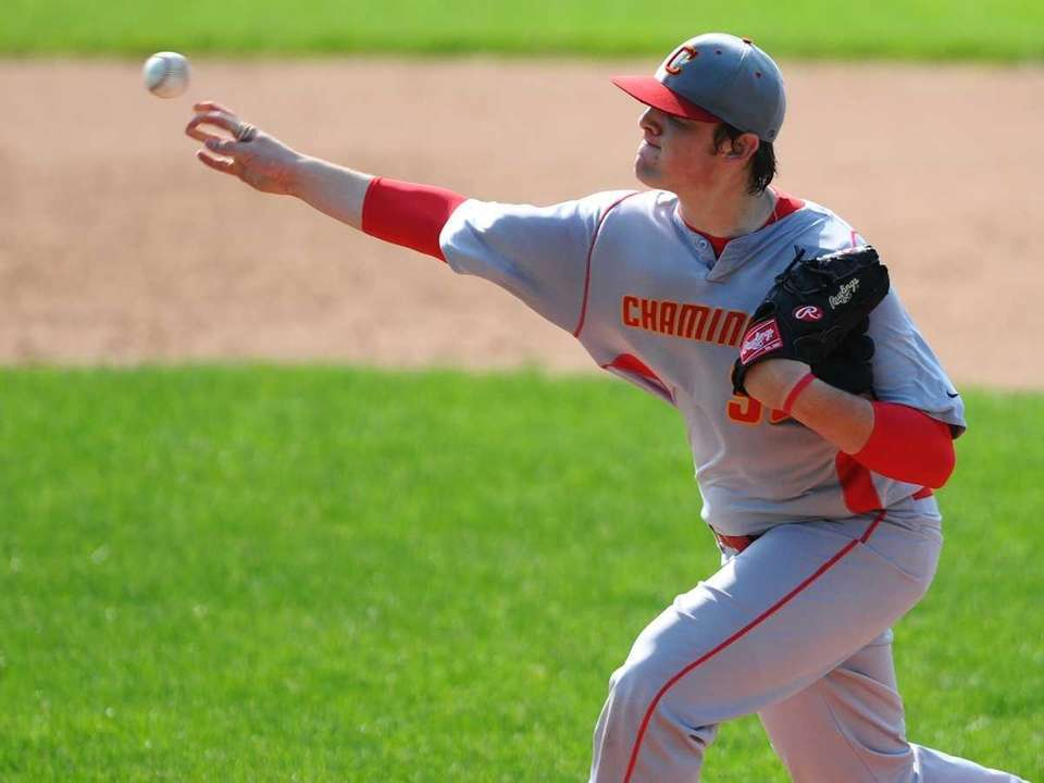 Chaminade High School starting pitcher Eric Truss throws