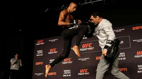 UFC fighter Edson Barboza works out in Philadelphia