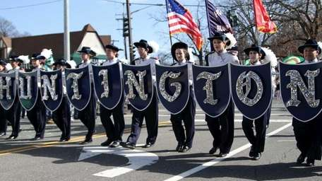 Students from Huntington High School lead the way