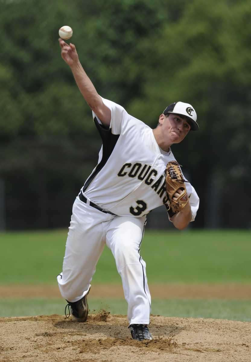 Commack pitcher Mike Sparacino delivers a pitch against