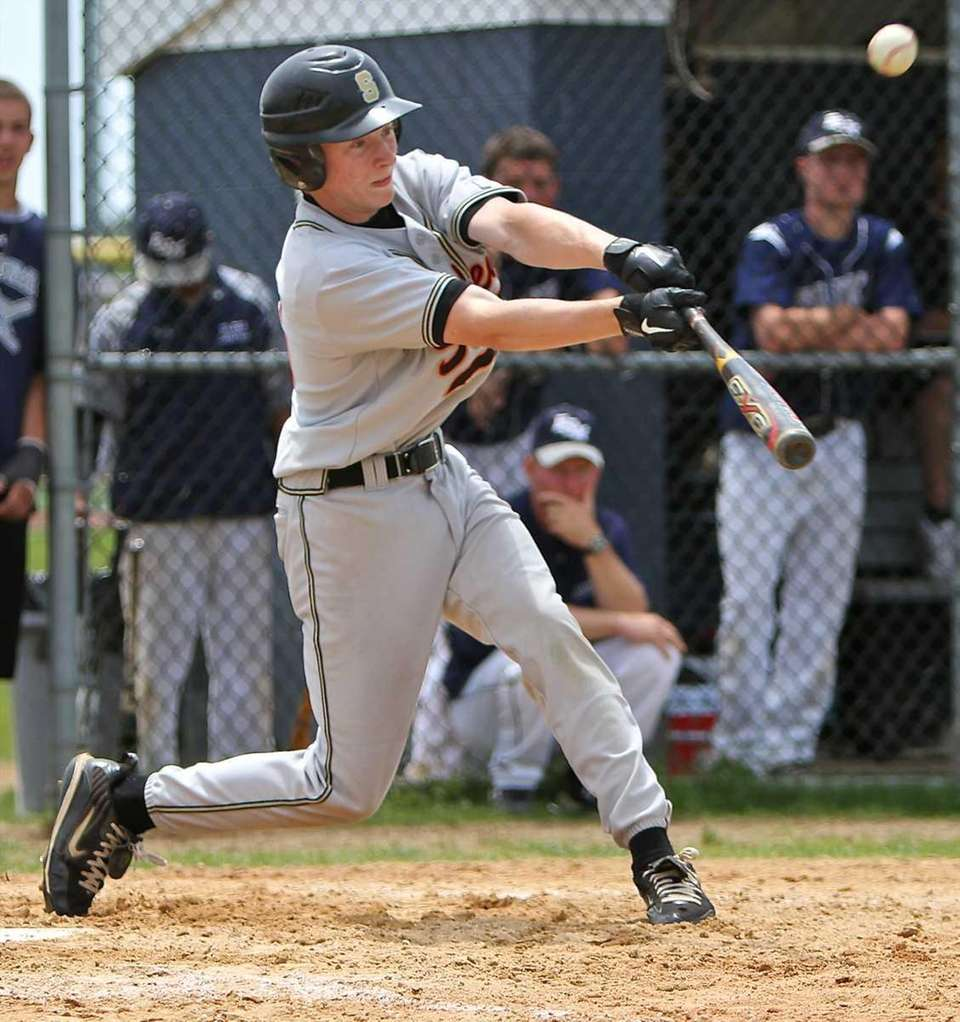 Sachem North's Tom Klingel connects for a hit