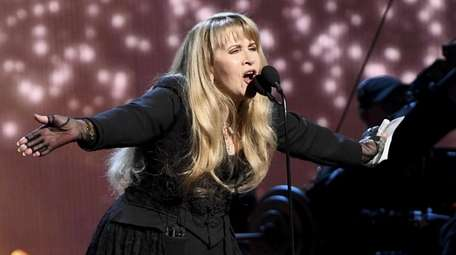 Inductee Stevie Nicks performs during the 2019 Rock