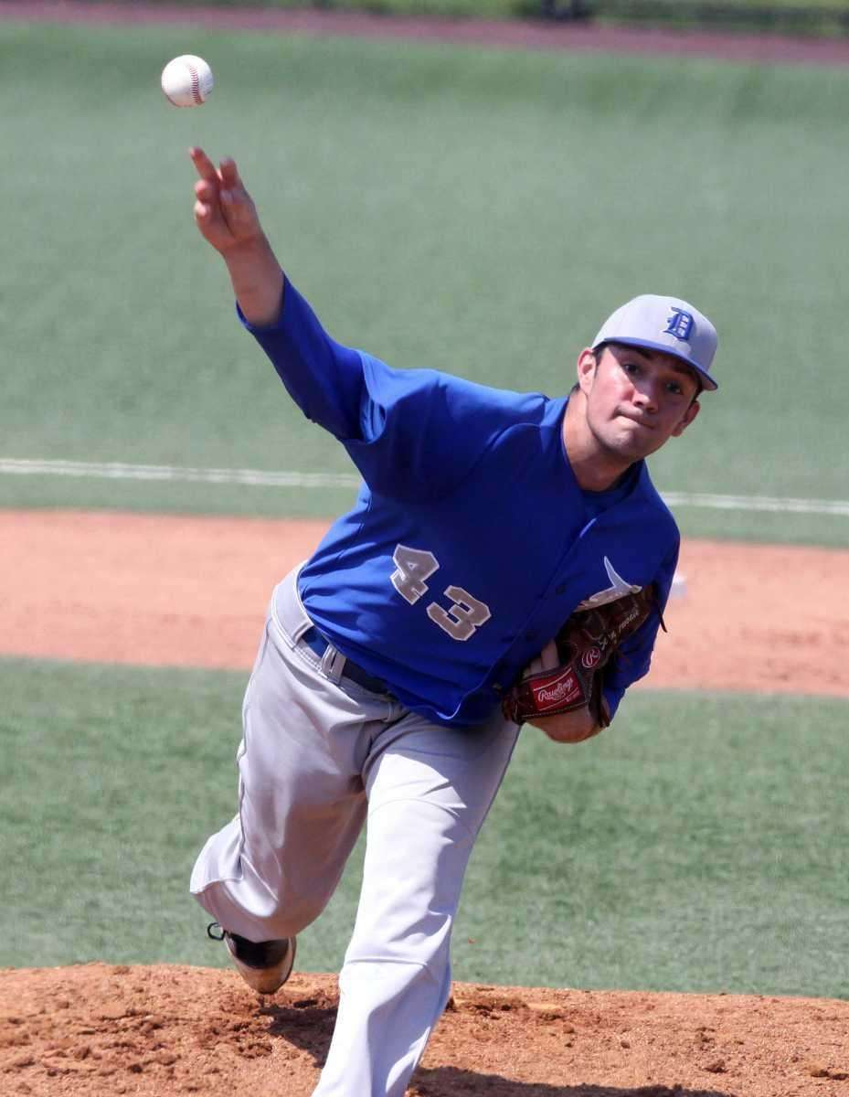 Division's Sean Abbate delivers a pitch against Island