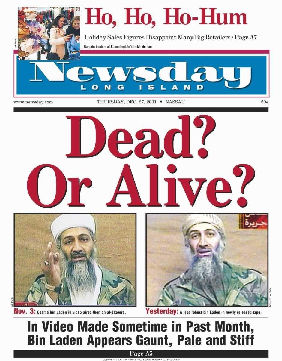 Thursday, December 27, 2001. Read the story