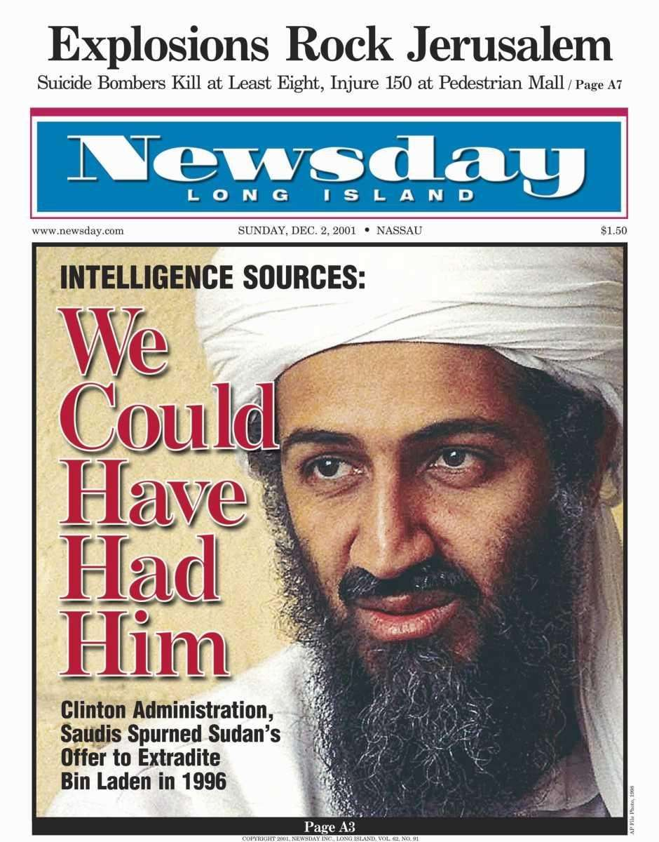Sunday, December 2, 2001. Read the story