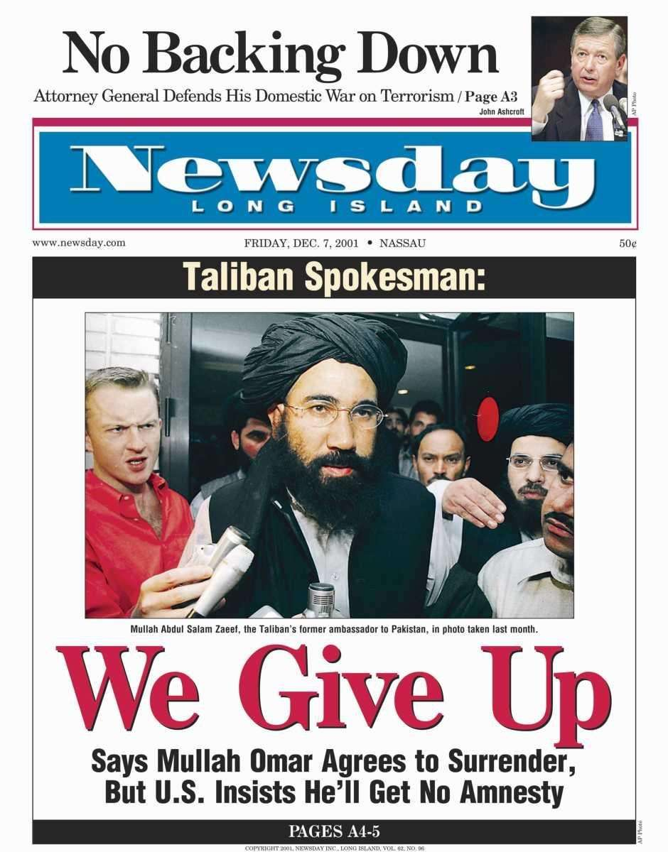 Friday, December 7, 2001. Read the story