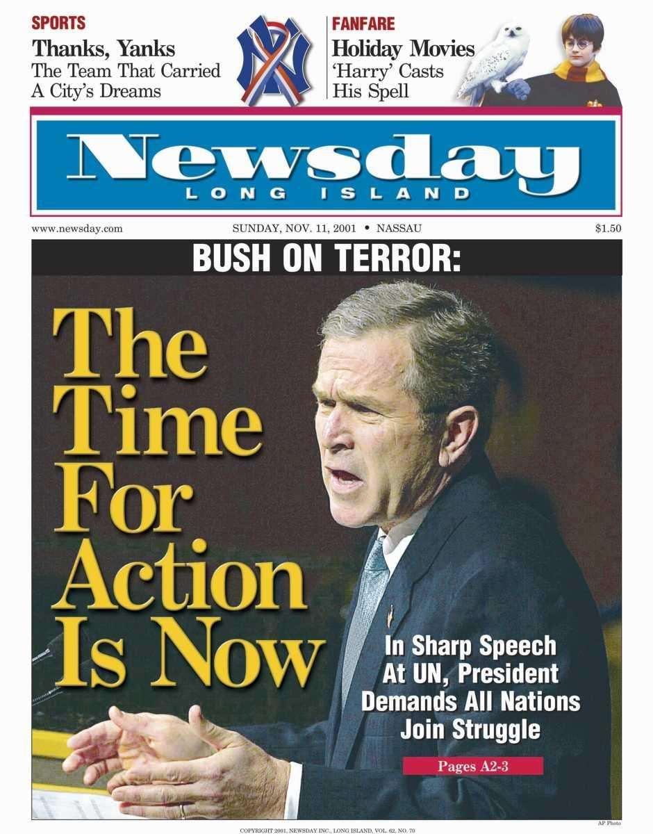 Sunday, November 11, 2001. Read the story