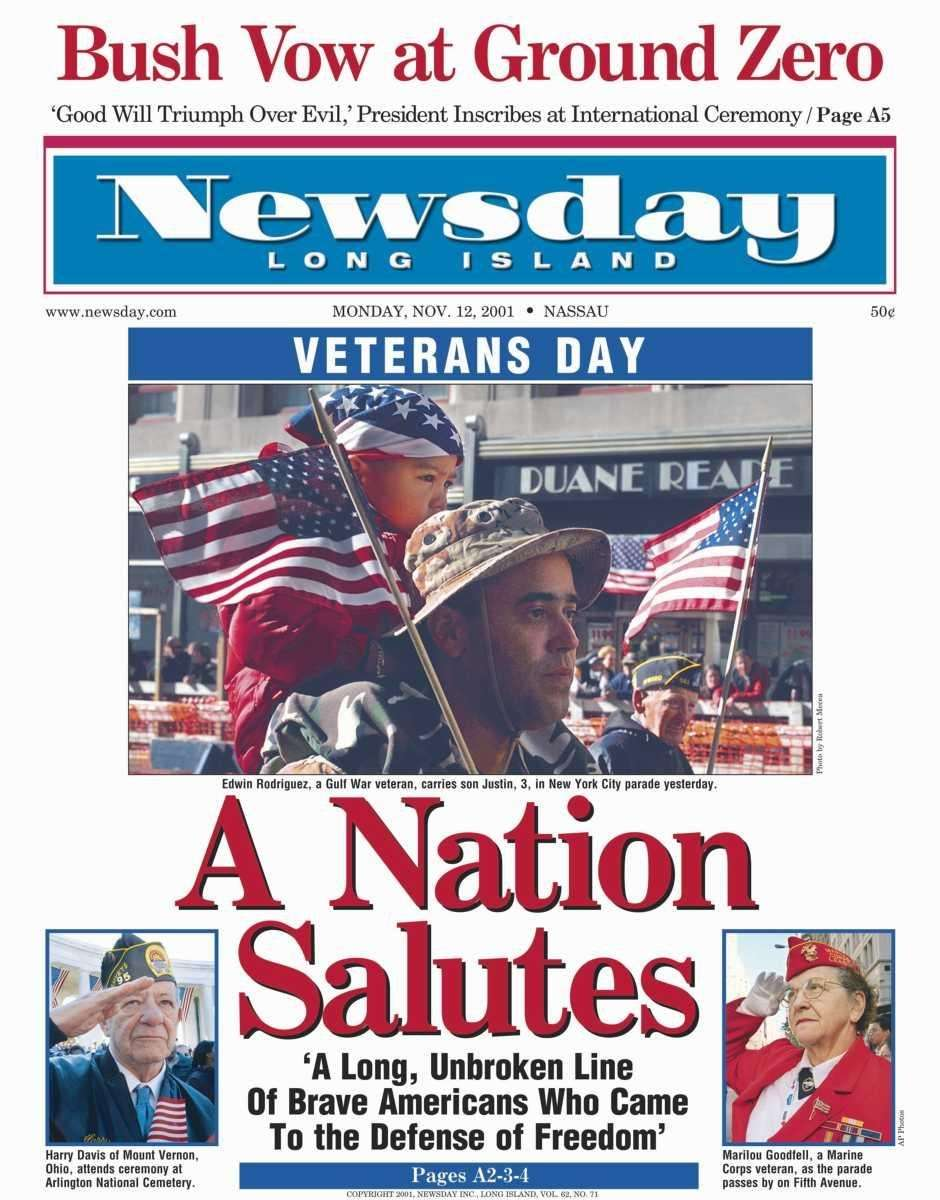 Monday, November 12, 2001. Read the story