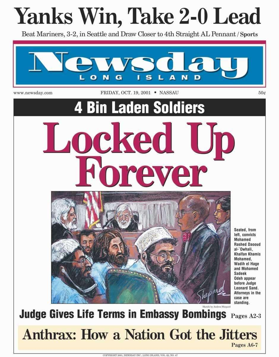 Friday, October 19, 2001. Read the story