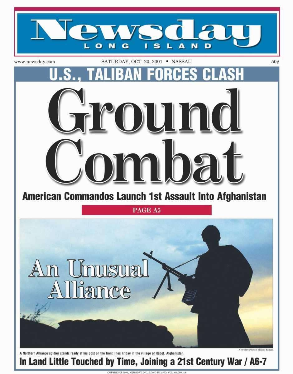 Saturday, October 20, 2001. Read the story