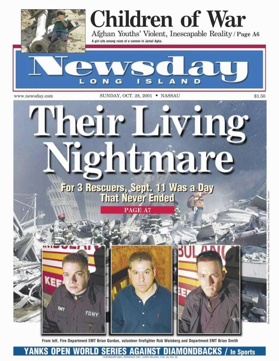 Sunday, October 28, 2001. Read the story