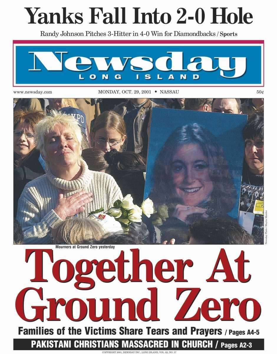 Monday, October 29, 2001. Read the story