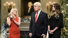 Kate McKinnon, left, as counselor to the president