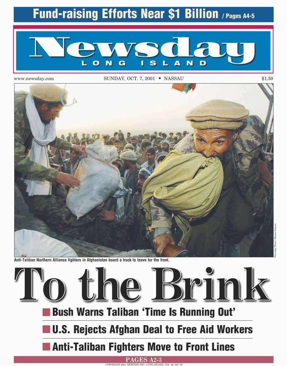 Sunday, October 7, 2001. Read the story