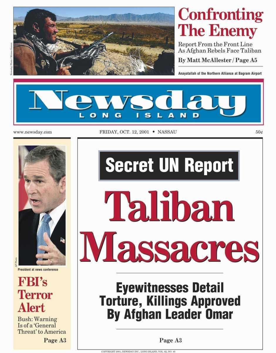 Friday, October 12, 2001. Read the story