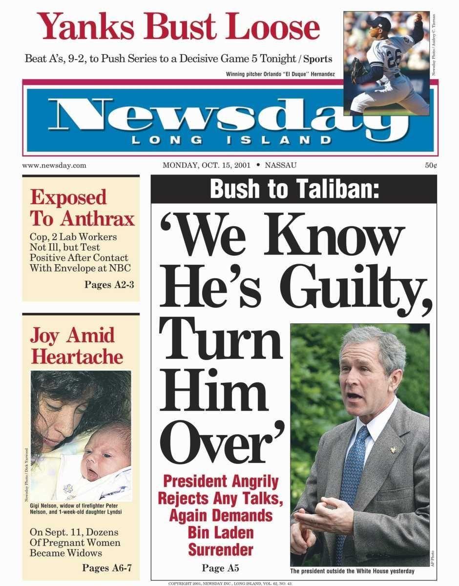 Monday, October 15, 2001.