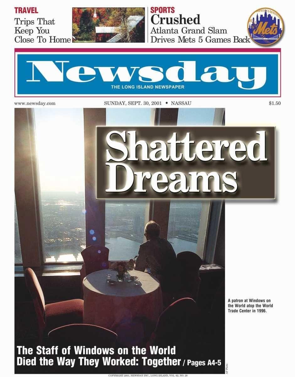 Sunday, September 30, 2001. Read the story