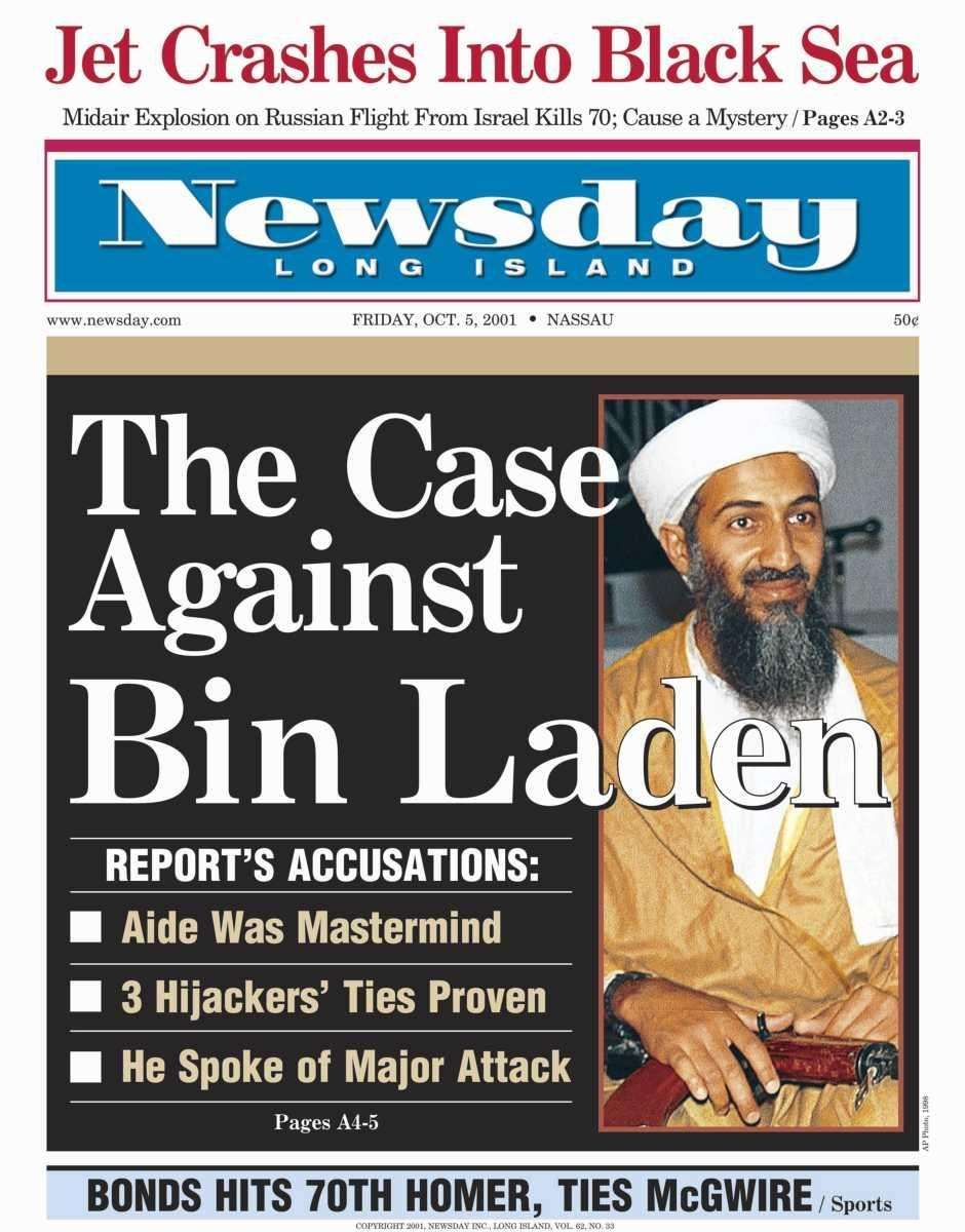 Friday, October 5, 2001. Read the story