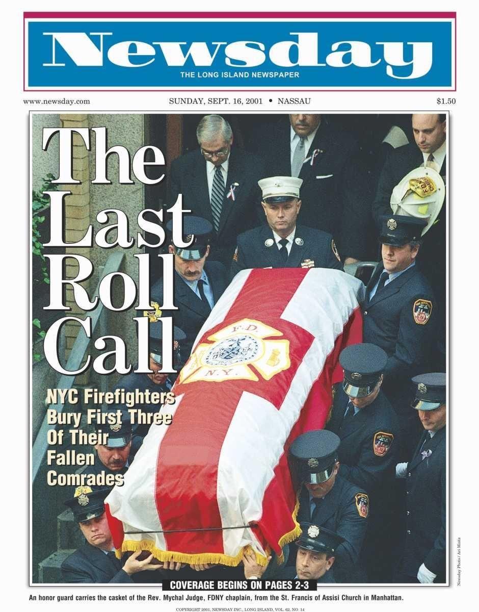 Sunday, September 16, 2001. Read the story