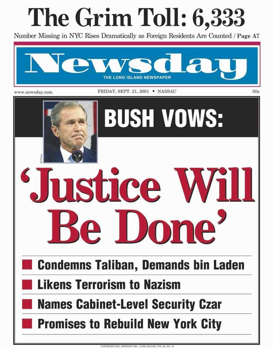 Friday, September 21, 2001. Read the story