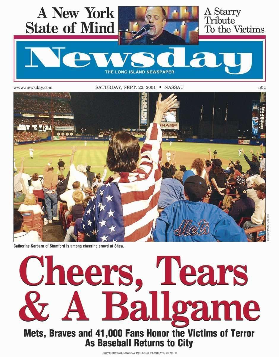 Saturday, September 22, 2001. Read the story