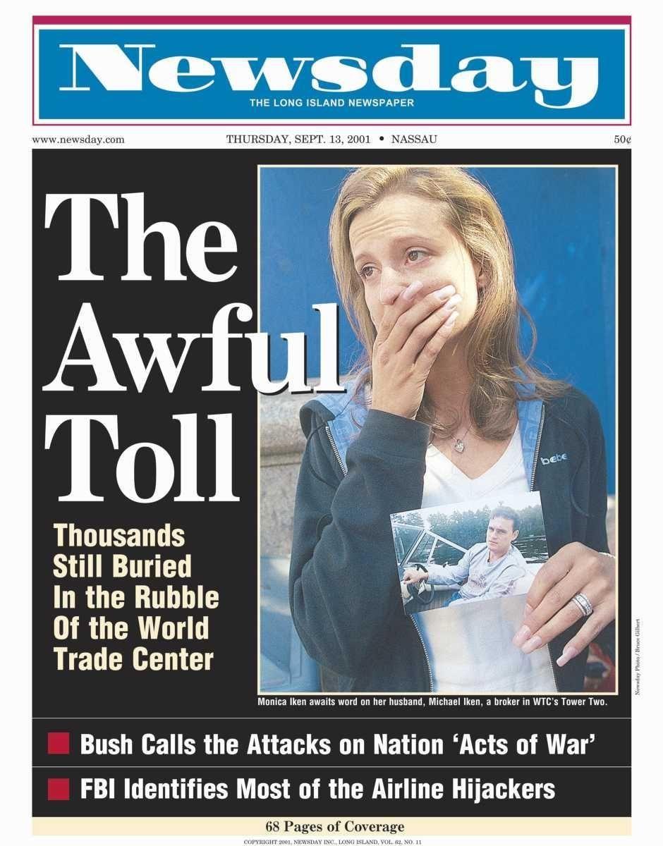 Thursday, September 13, 2001. Read the story
