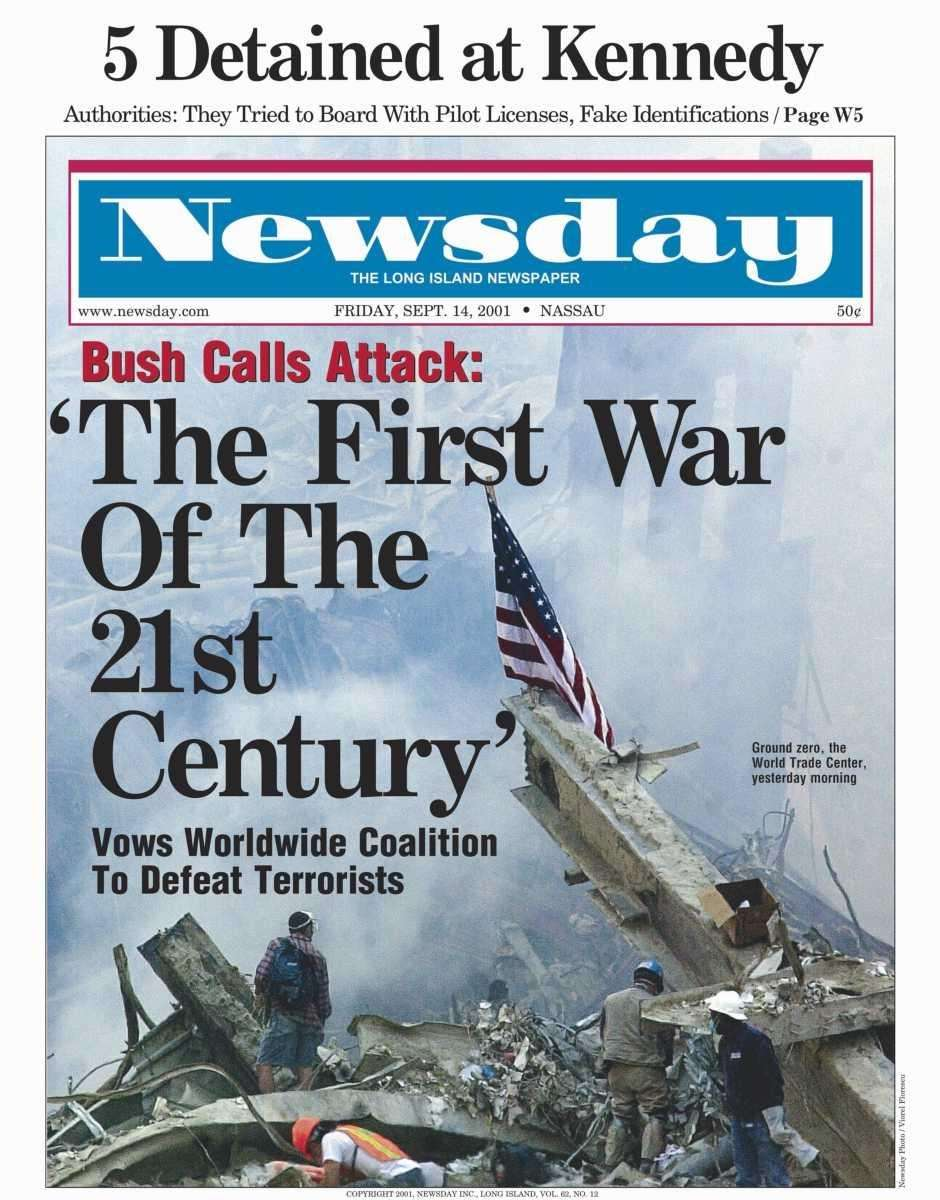 Friday, September 14, 2001. Read the story