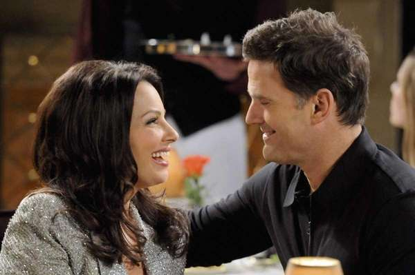 Fran Drescher and D.W. Moffett in quot;Happily Divorced,quot;