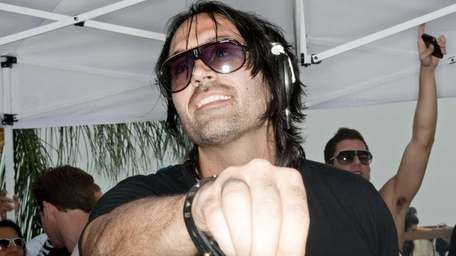 DJ Theo Pisani during a set at the
