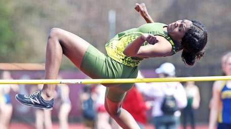 Westbury's Dieusi Armand comes in second place in