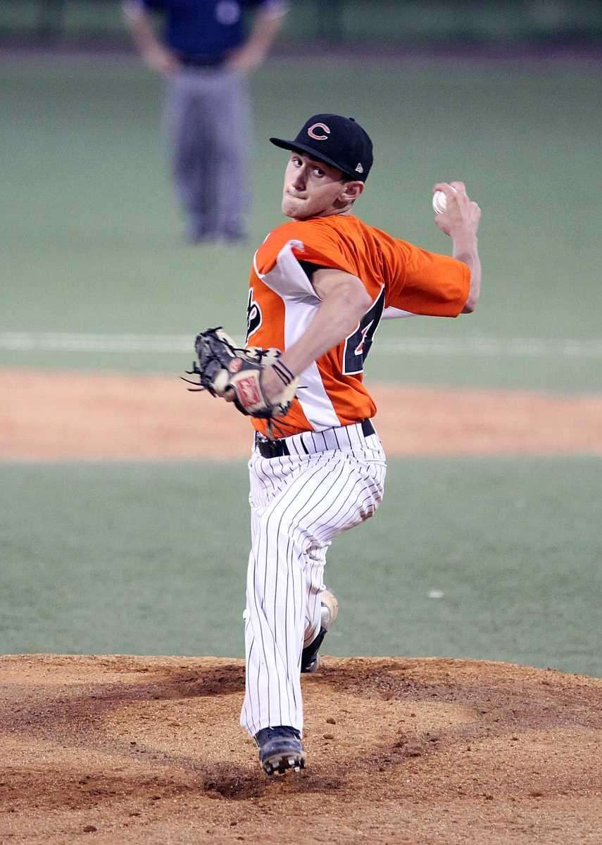 Carey pitcher Jesse Montalto on the mound during