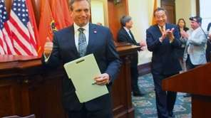 County Executive Mangano signed legislation to allow a