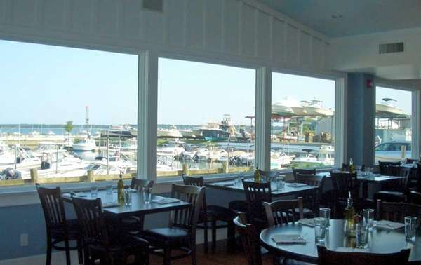 The view from A Lure, a restaurant at