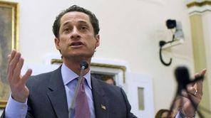 Rep. Anthony Weiner (D-N.Y.) testifies before the House