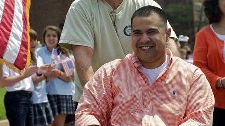 Cpl. Joshua Himan, of Dale City, Va., met