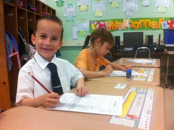 Six-year-old named James Funaro at Nesconset Elementary School