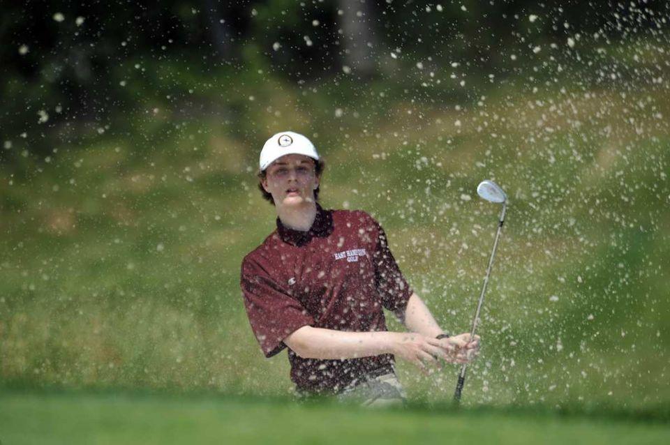 Ian Lynch of East Hampton watches his shot