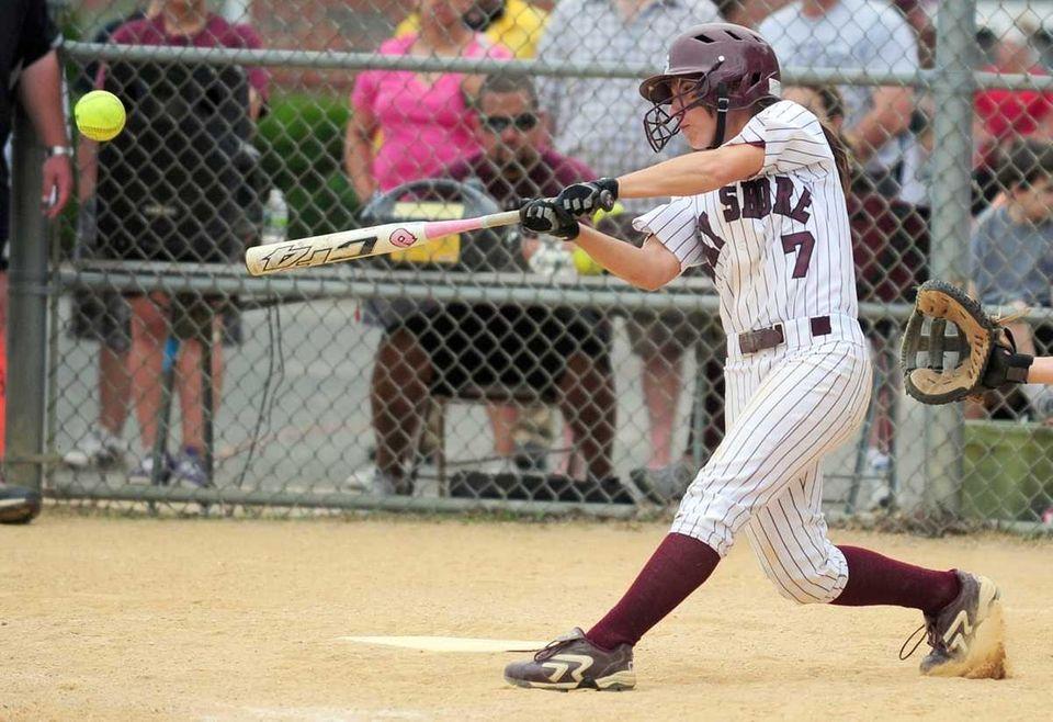 Bay Shore's Amber Fogarty knocks a 3-run home