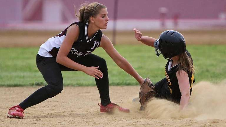 Kings Park shortstop Paige Julich puts the late