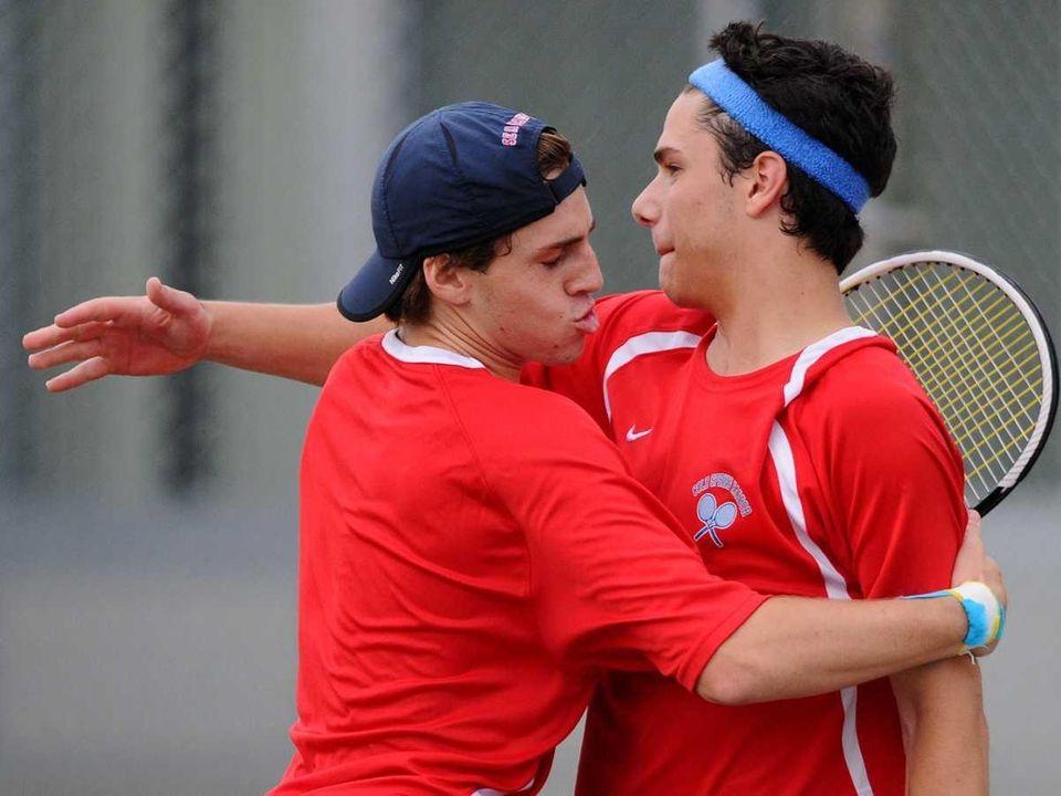 Jensen Reiter, left, and doubles partner Alex Tropiano