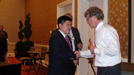 Emmanuel Kim, valedictorian of Ward Melville High School,