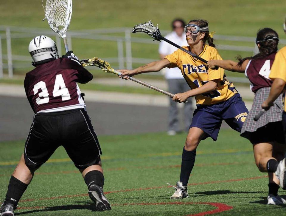 Northport attacker Kiera McNally shoots and scores past