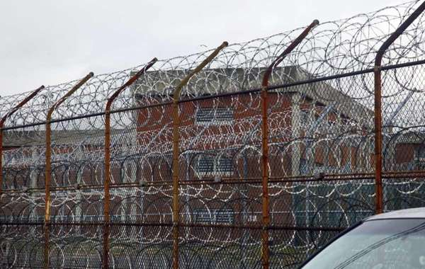 Inmate housing on New York's Rikers Island penal