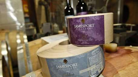 The labels at Jamesport Vineyards in Jamesport that