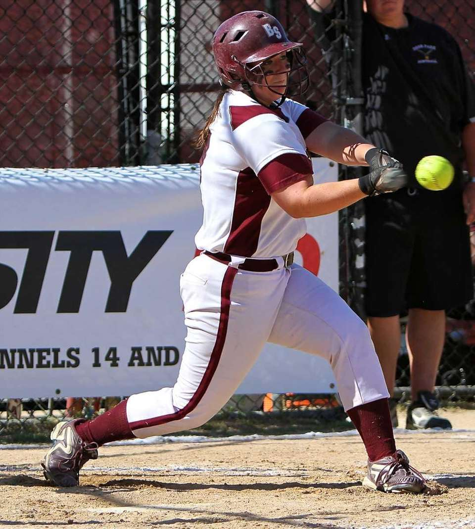 Bay Shore's Taylor McGowan #17 connects for a