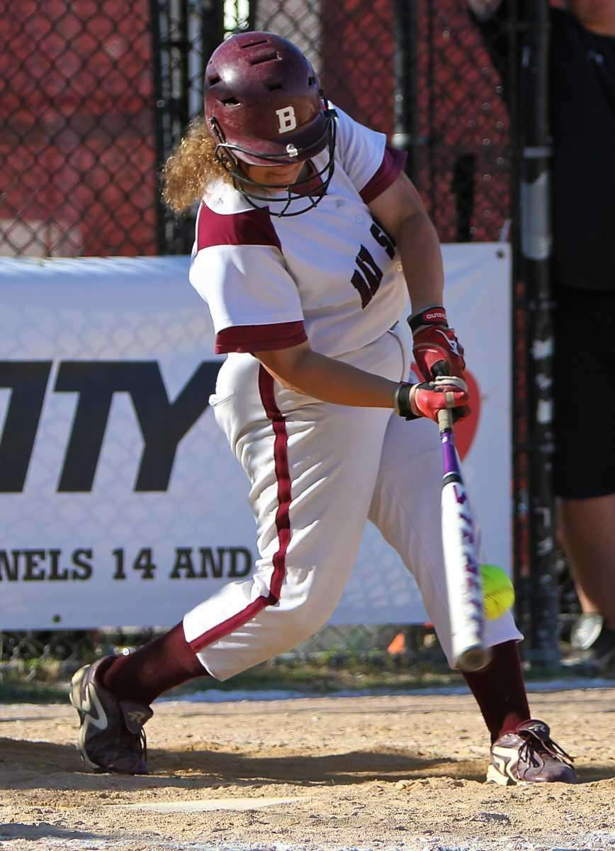 Bay Shore's Briana Coan #44 crushes the ball